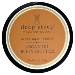 Deep Steep Argan Oil Body Butter Brown Sugar Vanilla